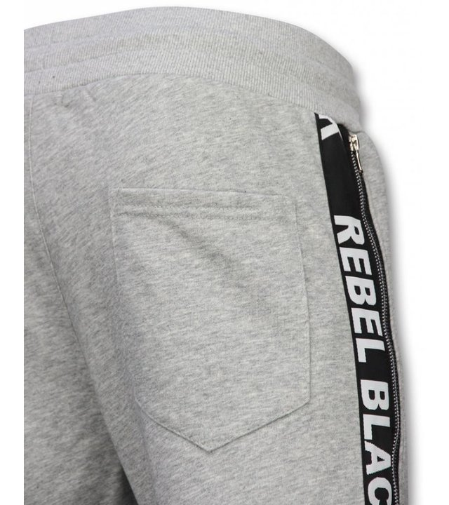 Enos Lässige Jogginghose - Rebel Black - Grau
