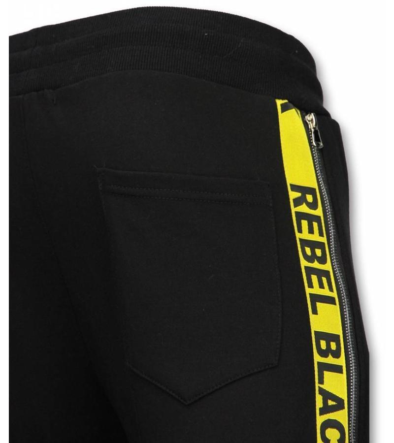 Enos Lässige Jogginghose - Rebel Black - Schwarz