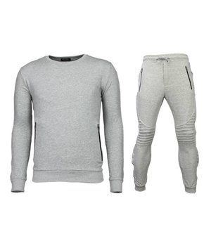 Enos Trainingsanzüge Basic - Buttons Jogginganzug - Grau