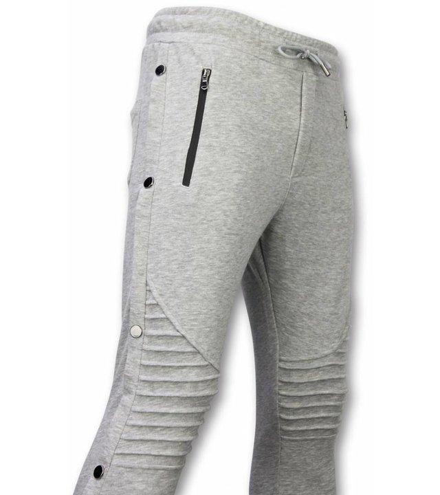 Enos Lässige Jogginghose - Buttons Jogginghose - Grau