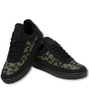 Cash Money Herren Schuhe - Herren Sneaker Low Case - Armee Khaki Schwarz