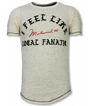 Local Fanatic Longfit T-Shirt - Ich fühle mich wie Muhammad - Beige