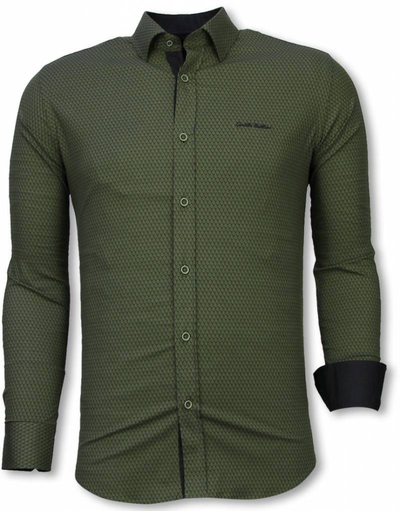 ed8a803c9b9d2 Hemd Skin Bluse Slim Pattern Reptile Italienische Fit Hemden H2WE9DI