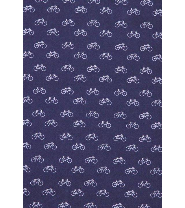 Gentile Bellini Italienische Hemden - Slim Fit Shirt - Bluse Fahrrad Muster - Blau