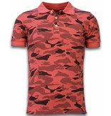 Bread & Buttons Camo Polo Shirt - Washed Camouflage - Rot