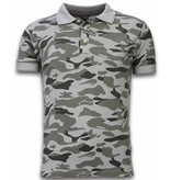Bread & Buttons Camo Polo Shirt - Washed Camouflage - Grau