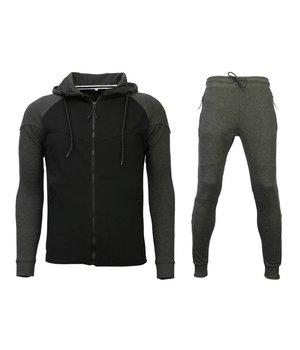 Style Italy Trainingsanzug Windrunner Basic - Grau / Schwarz