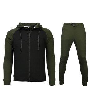 Style Italy Trainingsanzug Windrunner Basic - Grün / Schwarz
