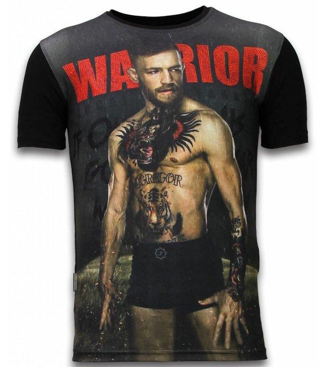 Local Fanatic McGregor Warrior - Digital Strass T-shirt - Schwarz