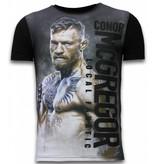 Local Fanatic Conor McGregor Fighter - Digital Strass T-shirt - Schwarz