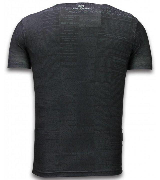 Local Fanatic Captain - Digital Strass T-shirt - Schwarz