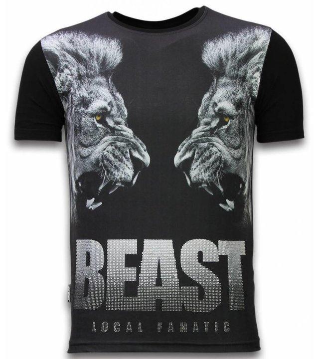 Local Fanatic Beast - Digital Strass T-shirt - Schwarz