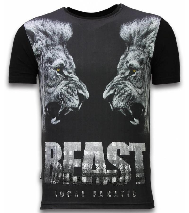 Local Fanatic Beast - Digital Strass T-shirt - Schwarz