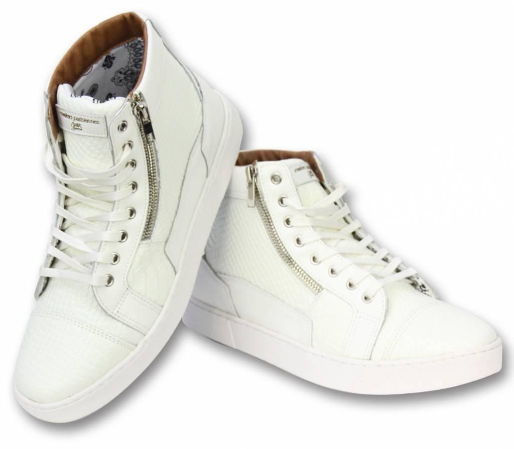 Sixth June Herren Schuhe - Sneaker Herren High Heel - Devil Weiß