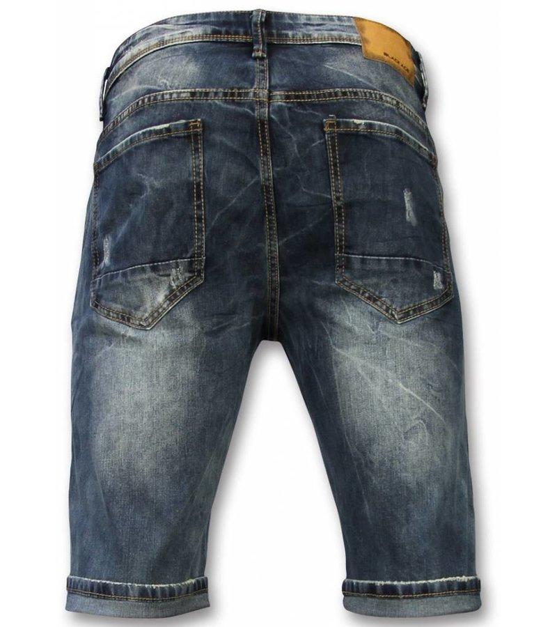 Black Ace Jeans Bermuda Herren - Kurze Jeans Herren - Blau