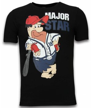 Mascherano Fred Stone Cartoon - The Flintstones T-shirt - Schwarz
