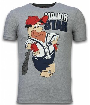 Mascherano Fred Stone Cartoon - The Flintstones T-shirt - Grau