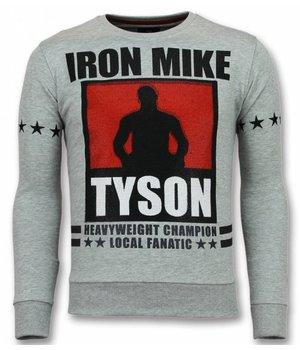 Local Fanatic Mike Tyson Pullover - Iron Mike Sweater Männer - Herren Sweatshirt - Grau