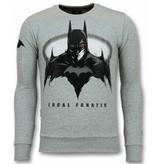 Local Fanatic Batman Pullover - Männer Pullover - Grau