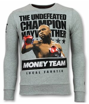 Local Fanatic Mayweather Pullover - Floyd Herren Pullover  - Money Team - Grau