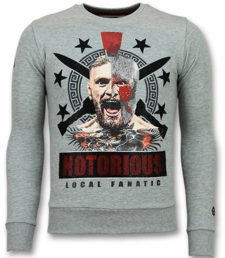 Local Fanatic Notorious Pullover - Mcgregor Warrior Pullover Herren - Grau