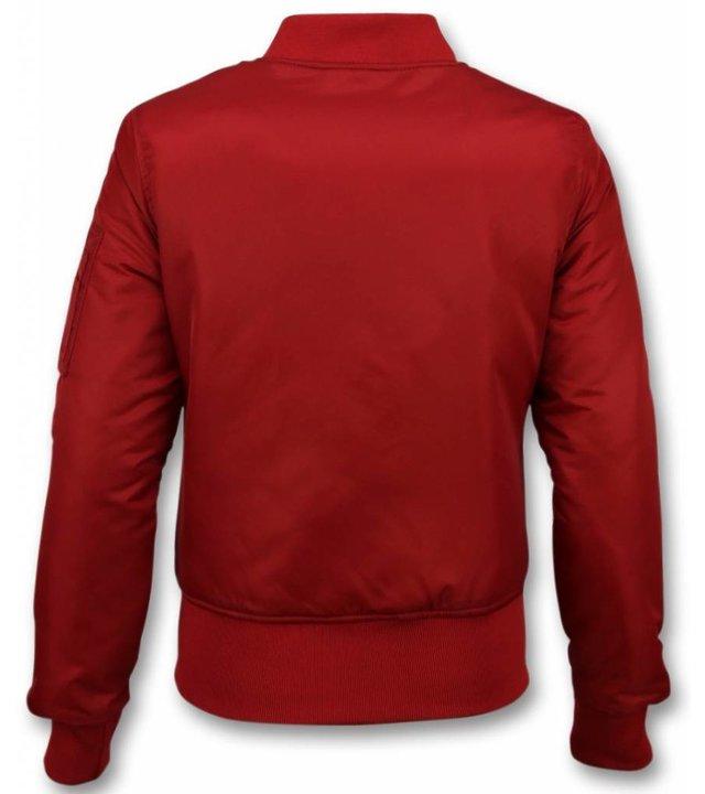 Matogla Bomber Jack Damen - Bomberjacke Damen Basic - Rot