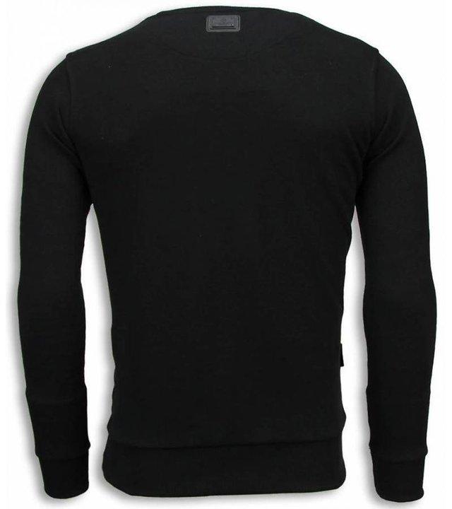 Local Fanatic Batman Sweater - Batman Pullover Schwarz - Sweatshirt Männer - Schwarz