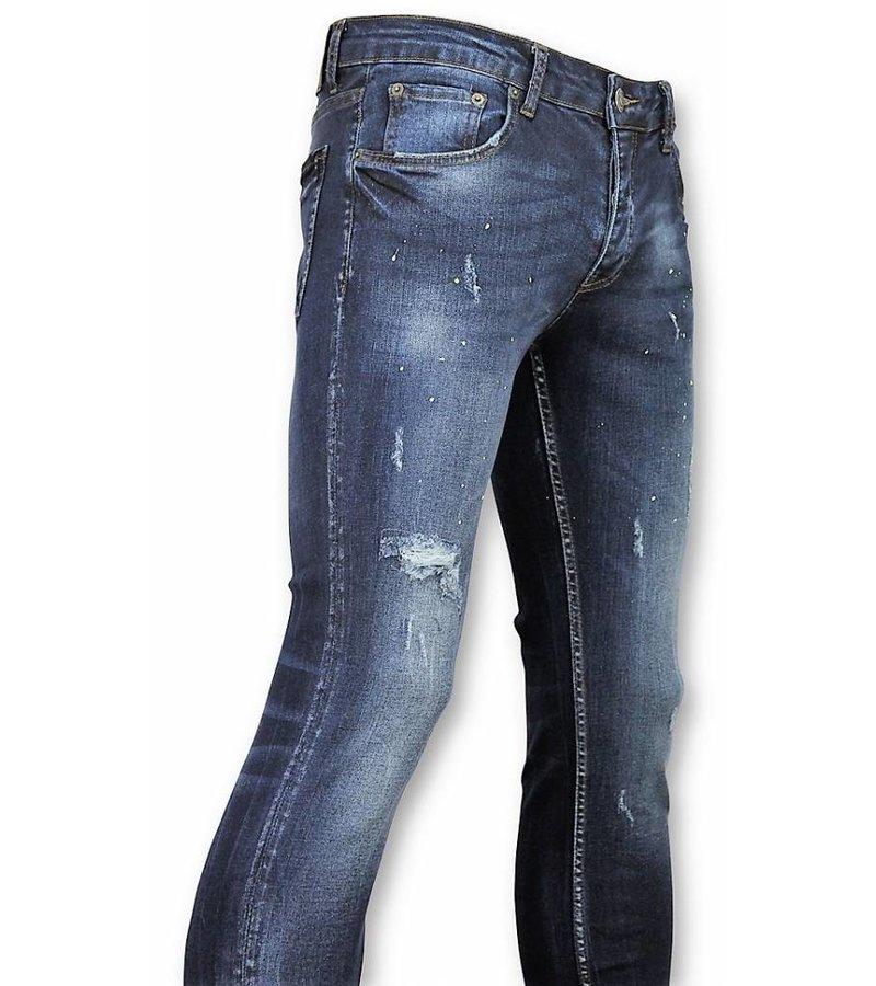 John H Jeans aint Drops DQ - Blauw Herren Sale - Jeanshosen - Paint Drops DQ - Blau