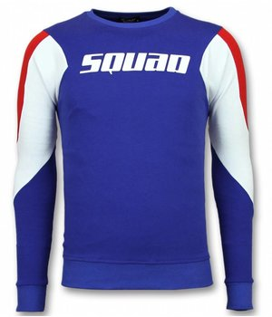 UNIMAN Three Color Sweatshirt - Squad Sweater Herren Sale - Blau