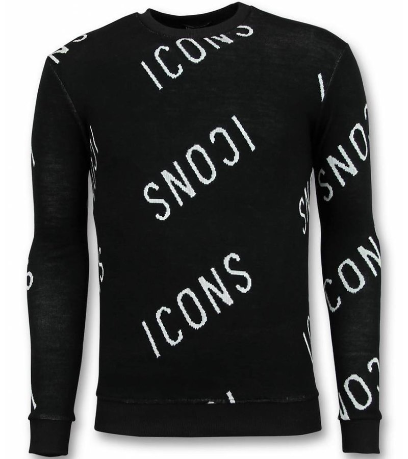 UNIMAN Pullover Designen - ICONS Sweater Herren - Schwarz