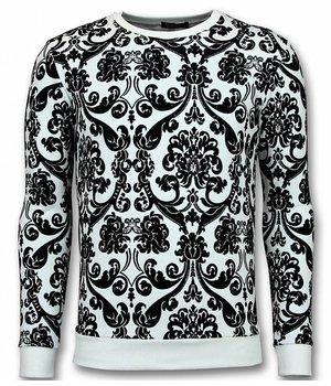 UNIMAN Flockprint Billige Pullover - Sweatshirt Männer - Schwarz