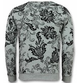 UNIMAN Flockprint Billige Pullover - Sweatshirt Männer - Grau