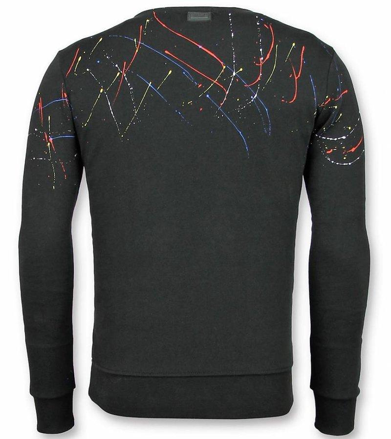 UNIMAN Paint Drop Süße Pullover - ICONS Herren Sweater - Schwarz