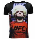 Local Fanatic UFC Campion - Khabib Nurmagomedov T-Shirt - Schwarz