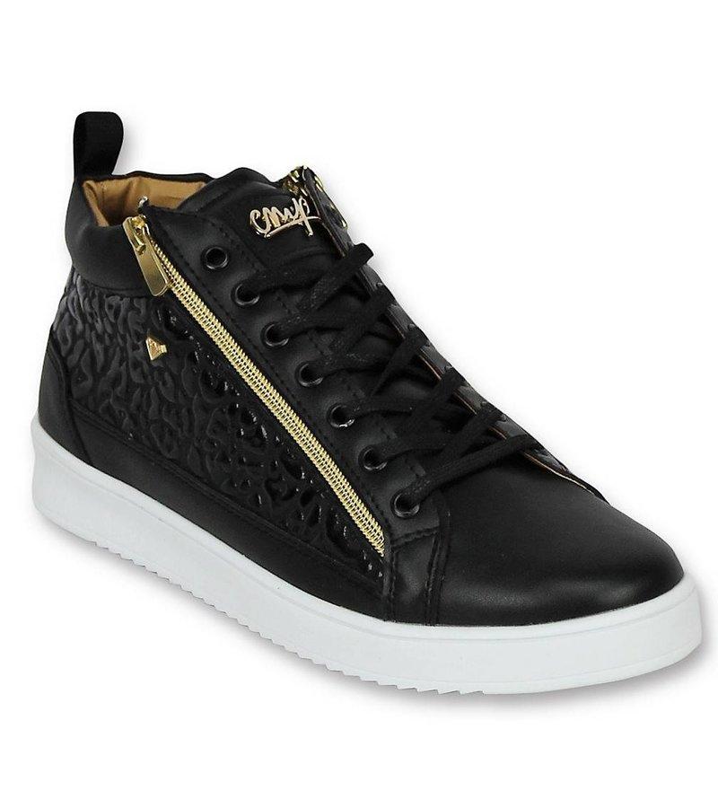 Cash Money Herren Schuhe - Herren Sneaker Croc Black Gold - CMS98 - Schwarz