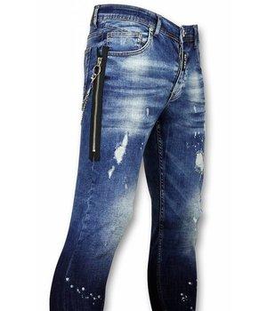 Mario Morato Blaue skinny jeans herren - Coole Jeans Männer - 1521 - Blau