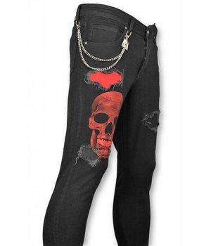 Mario Morato Coole Jeans Männer - Stretch jeans männer - 1510 - Schwarz