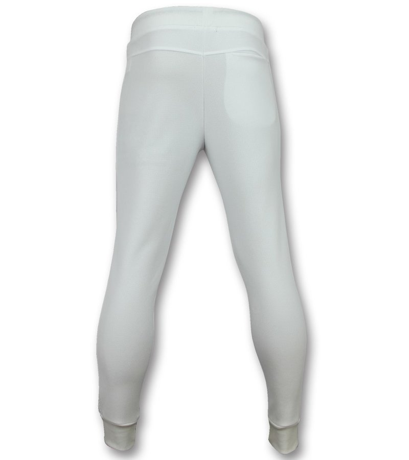 Enos Stylische jogginghosen herren  -Jogginghose sweathose - F561 - Weiß