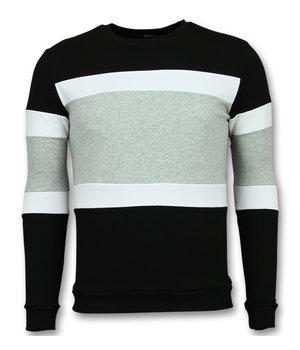 Enos Gestreifte pullover männer - Sweatshirt men - F7662GZ - Schwarz