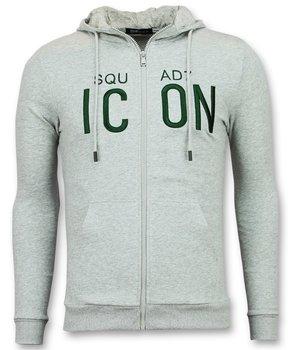 Enos Zip hoodie herren  grau - ICON Sweater Hoodie - F-7632 - Grau