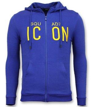 Enos Zip hoodie herren blau- ICON Sweater Hoodie - F-7632 - blau