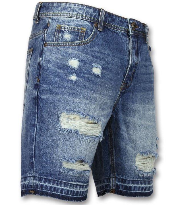 Enos Kurze jeans shorts herren - Kurze jeanshosen für männer  -J-965  - Blau