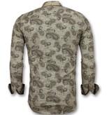 Gentile Bellini Herren business hemden günstig - Bluse herren - 3001 - Braun