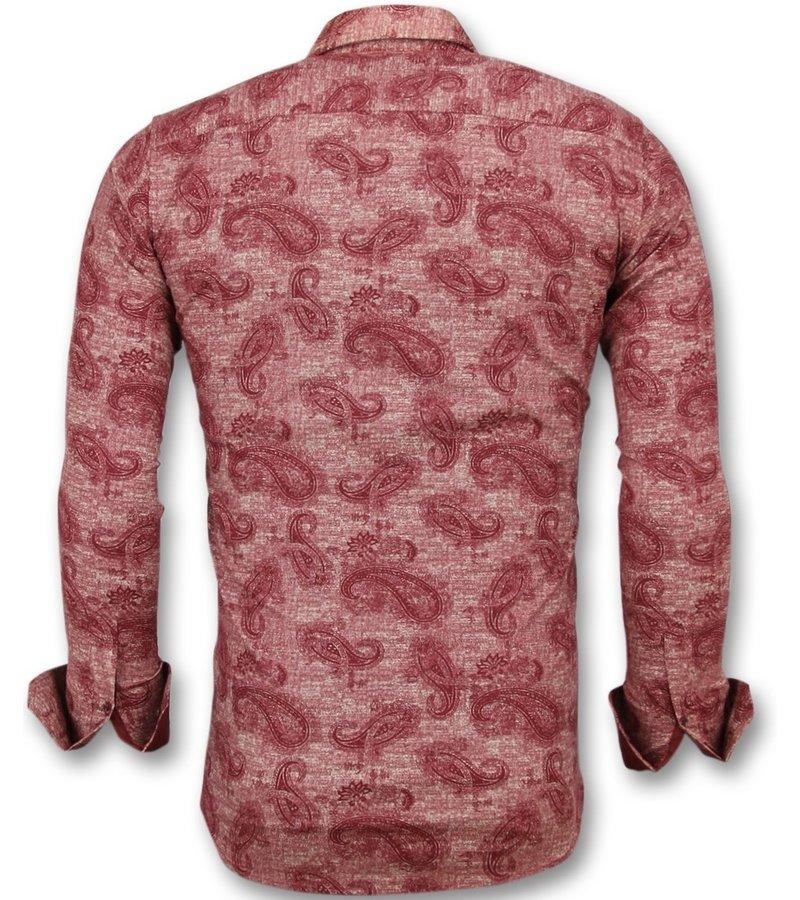 Gentile Bellini Coole hemden herren - Hemden männer slim fit - 3003 - Rot