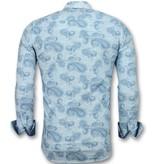 Gentile Bellini Casual hemden slim fit - Günstige hemden für männer - 3004 - Blau