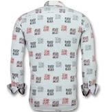 Gentile Bellini Business hemden langarm - Geblümtes hemd herren - 3012 - Weib