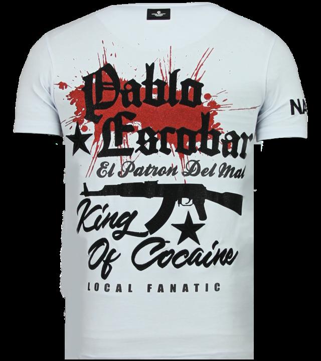 Local Fanatic El Patron Pablo - Strass T-shirt - Weiß
