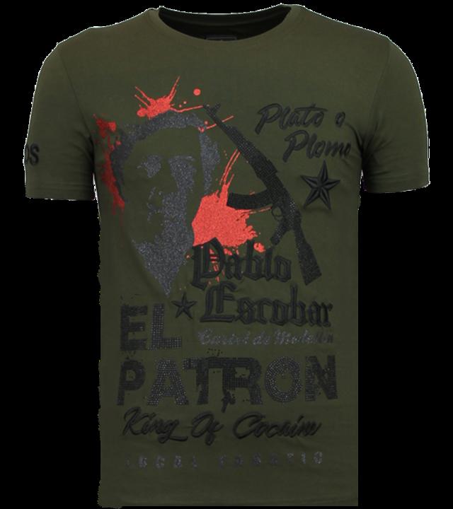 Local Fanatic El Patron Pablo - Strass T-shirt - Grün