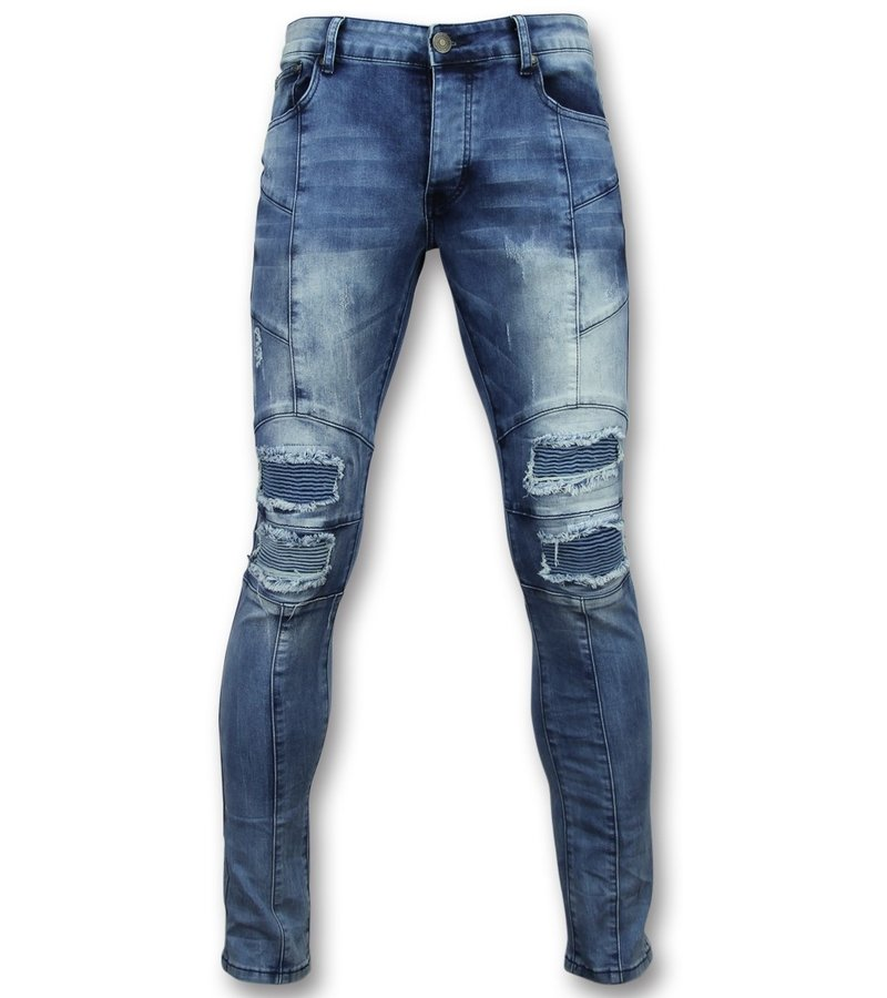 New Stone Biker jeans herren skinny - Super skinny jeans männer - 1058 - Blau