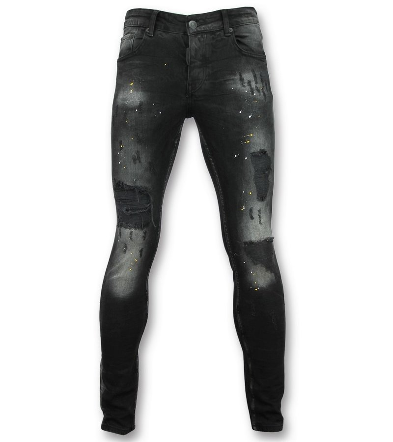 Addict Jeans skinny slim fit - Jeans hose für männer - 033 - Schwarz
